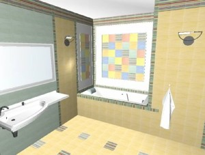 Tile 3D Bathrooms Design 7 Tile 3D Bathrooms Design