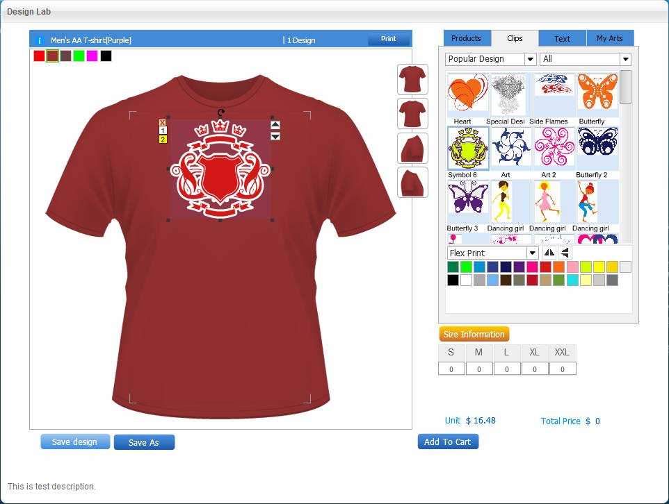 T shirt design software Online clothing design software