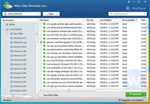 Wise Hard Disk Recovery