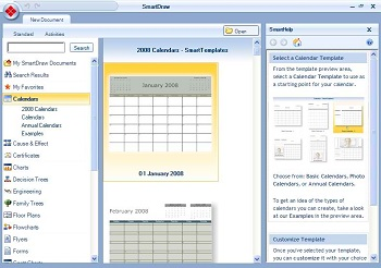 SmartDraw Calendar Software
