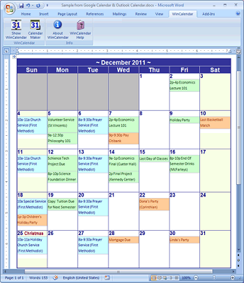the wincalendar software is a calendar maker program designed for microsoft word and excel it has more than 70 layout combinations