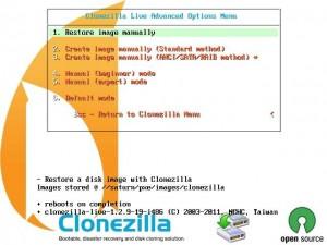 3. Clonezilla