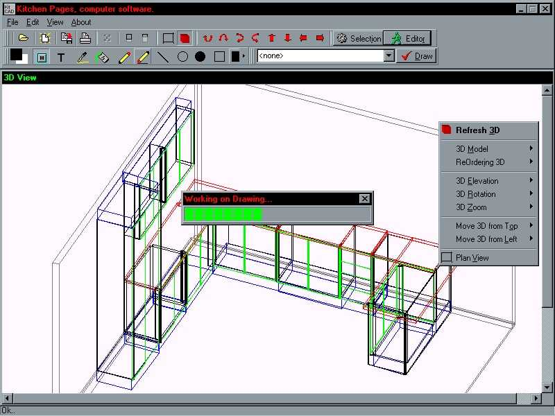 Free cabinet drawing software freeware cabinets matttroy for Remodeling planner free online