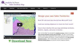 Analytics in Focus Sales Territory Map